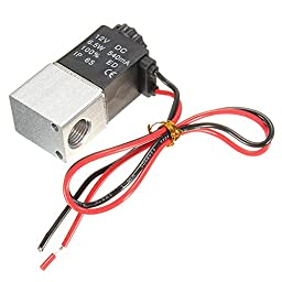 (4723-u) 1/4INCH DC 12V 2 WAY NORMALLY CLOSED ELECTRIC SOLENOID AIR (USA)