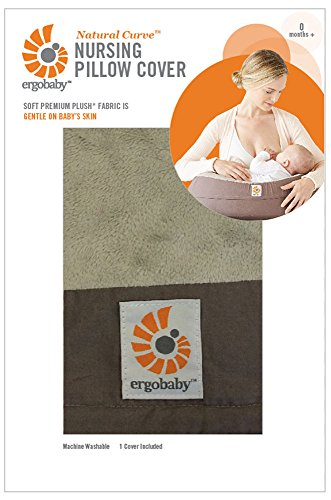 ERGObaby Natural Curve Nursing Pillow Cover, Brown