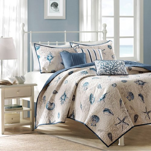 Madison Park 6 Piece Bayside Coverlet Set, Full/Queen (Amazon Quilt Bedding compare prices)