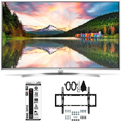 Click to buy LG 55UH8500 - 55-Inch Super Ultra HD 4K Smart LED TV Flat + Tilt Wall Mount Bundle includes LG 55UH850 4K TV, Flat & Tilt Wall Mount Ultimate Kit and 6 Outlet Power Strip with USB Ports - From only $11999