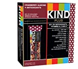 KIND PLUS, Cranberry Almond + Antioxidants, Gluten Free Bars 1.4 OZ (Pack of 12)
