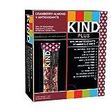 KIND PLUS, Cranberry Almond + Antioxidants, Gluten Free Bars, 1.4 Ounce, 12 Count ~ KIND