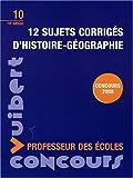 echange, troc Manuelle Duszynski, Collectif - 12 sujets corrigés d'histoire-géographie : Concours professeur des écoles