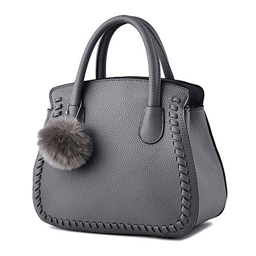Wewod-Mode-Schulterbeutel-Abendtaschen-Clutch-Handtasche-fr-Einkaufen-Grau