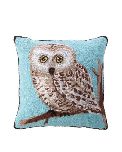 "Warren Kimble Hook Pillow, Blue Owl, 18"" x 18"""