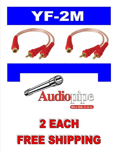 Rca Y Adapter Yf-2M Audiopipe 1 Female Out To 2 Male 2 Pack Car And Home Audio