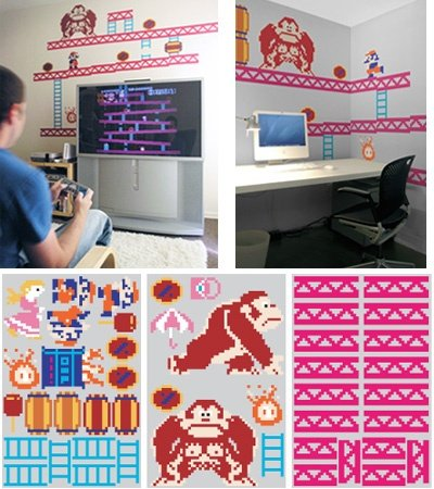 Donkey Kong Wall Stickers Software Video Game Software