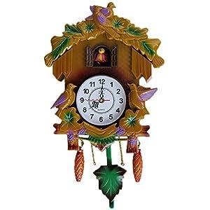 evelots cuckoo clock chalet 15 decorative modern plastic children 39 s clock. Black Bedroom Furniture Sets. Home Design Ideas