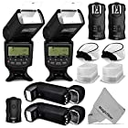 Professional Flash Kit for NIKON DSLR Cameras D7100 D7000 D5300 D5200 D5100 D5000 D3300 D3200 D3100 - Includes: 2pcs Altura Photo I-TTL Auto-Focus Dedicated Flashes + Wireless Camera Flash Trigger and Camera Remote Control Function (1 Transmitter, 2 Receivers) + Cable-M Cord for Remote Control + 2 Protective Pouches + 2 Hard Flash Diffusers + 2 Soft Flash Diffusers + MagicFiber Microfiber Cleaning Cloth
