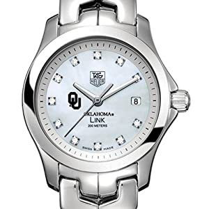 University of Oklahoma TAG Heuer Watch - Ladies Link with Mother of Pearl by TAG Heuer