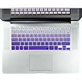 "Litop Purple Gradient Series Silicone Keyboard Cover Keyboard Skin For All MacBook Air 13"", MacBook Pro With Retina..."