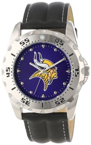 Game Time Men'S Nfl-Wwg-Min Minnesota Vikings Analog Strap Watch And Wallet Set