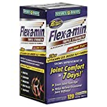 Natures Bounty Flex-A-Min Glucosamine Chondroitin Formula, Triple Strength, with Joint Flex, Coated Tablets, 120 tablets