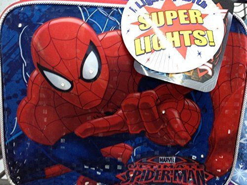 1 X Spiderman Lunch Bag Box Lights Up