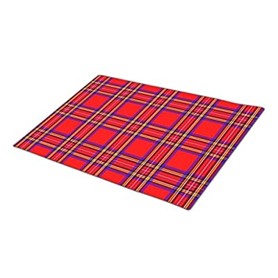 AbbyDay Rubber Outdoor Mats Retro Plaid Pattern Door Matt One size
