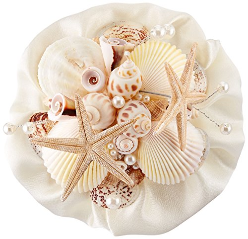 Lillian Rose Coastal Seashell Bouquet, 6-Inch
