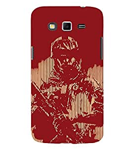 Soldier Painting Cute Fashion 3D Hard Polycarbonate Designer Back Case Cover for Samsung Galaxy Grand 2 :: Samsung Galaxy Grand 2 G7105 :: Samsung Galaxy Grand 2 G7102