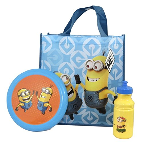 Despicable-Me-Minions-Flying-Disc-Pull-top-Bottle-and-Reusable-Tote-Bundle-Su-20