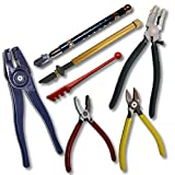 Great 7 pcs Glass Tool Kit: 4 Various Pliers plus 3 Glass Cutters for Glass & Stained Glass Art