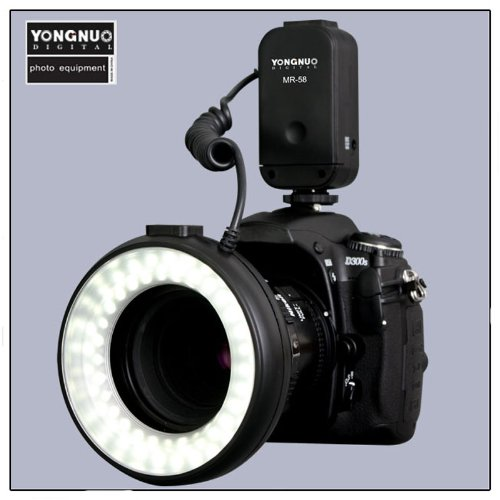Yongnuo Mr-58 Macro Ring Led Light Flash With 4 Ring Mounts Adapter For Canon Nikon Pentax Sigma Olympus By Ghope