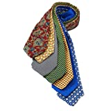 7Piece 100% Pure Silk Ties. Made in England. (218D)RRP£139.99