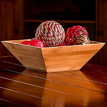 Wood Salad Bowl Set With Bamboo Servers