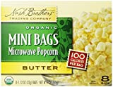 Nash Brothers Trading Organic Microwave 100 Calorie Popcorn, Butter, 8 Count