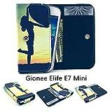 ZeWoo PU Leder Brieftasche für Gionee Elife E7 Mini (4.7
