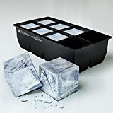 Best Ice Cube Trays Molds - Giant 2 Inch Ice Cube Silicone Tray - Jumbo Whiskey and Cocktail Large Cubes Size