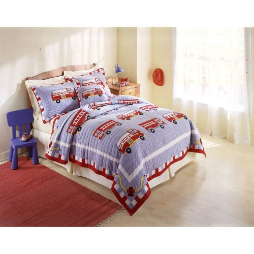 Pem America Fire Truck Bedding Set front-1073182
