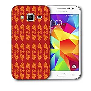 Snoogg Yellow Leaves In Red Printed Protective Phone Back Case Cover For Samsung Galaxy CORE PRIME