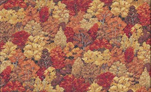 Fat Quarter Foresta in autunno foresta alberi cotone fabric-makower 1353N