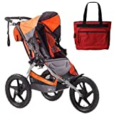 BOB ST1002 Sport Utility Stroller with Diaper Bag - Orange