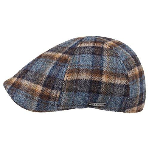 texas-woolrich-berretto-piatto-stetson-berretto-becco-anatra-flat-cap-l-58-59-blu