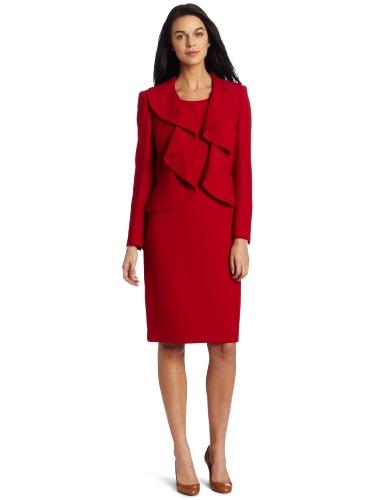 Kasper Women's Crepe Jacket Suit Dress