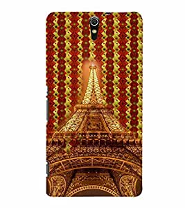 PrintVisa Travel Paris Eifel 3D Hard Polycarbonate Designer Back Case Cover for Sony Xperia C5 Dual