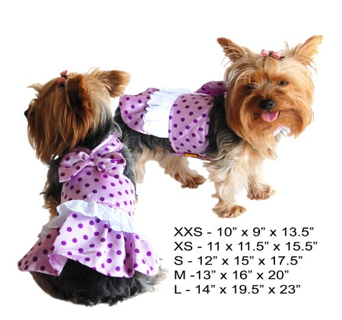 51o26kVt5jL Girls Summer Clothes Pretty Girl Polka Dot Satin Dog Dress   Medium Reviews
