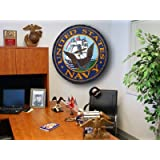 U.S. Navy USN 44in Round Area Rug Welcome Mat/Wall Decor