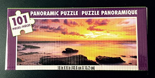 Sunset Over the Ocean, 101 Panoramic Puzzle - 1