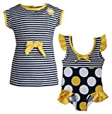 Wippette Baby Girls One Piece Swimsuit and Knit Sleeveless Coverup Beach Set