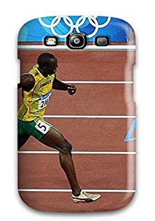 buy Galaxy S3 Case Cover - Slim Fit Tpu Protector Shock Absorbent Case (Usain Bolt Running )