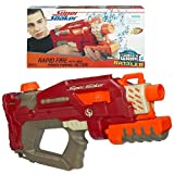 Soaker Wars Super Soaker Series Rapid Fire Blaster with Massive Saoking Capacity - RATTLER with Pump Handle and Large Capacity Tank (Capacity: 38 fl. oz., Distance: Up to 25 ft.)