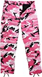 ROTHCO PINK CAMO B.D.U. PANTS - Poly Cotton Twill Material - Size M