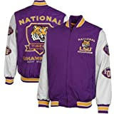 NCAA LSU Tigers 3-Time National Champions Commemorative Varsity Jacket - Purple/White (Large)