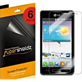 SUPERSHIELDZ- High Definition (HD) Clear Screen Protector For LG OPTIMUS F3 + Lifetime Replacements Warranty [6-PACK] - Retail Packaging
