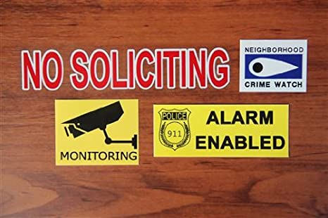 Security Monitoring Sign Business Security Signs