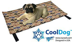 CoolDog Reusable Ice Mat for Keeping Dogs Cool in Summer from Icy Cools