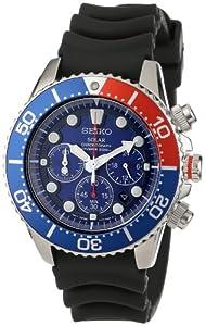 Seiko Men's SSC031 Solar Dive Chronograph Classic Solar Dive Chronograph Watch