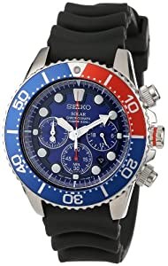 Seiko Men's SSC031 Stainless Steel Solar Dive Watch h