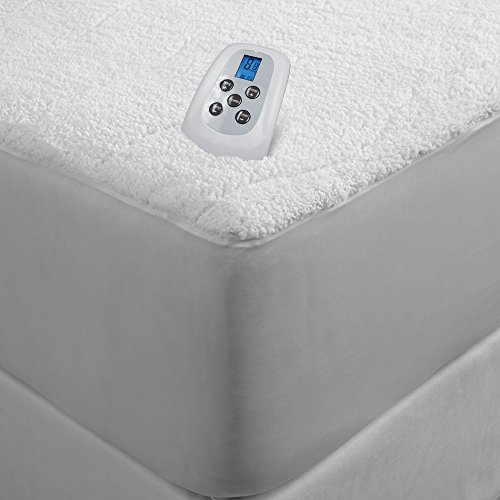 Serta Sherpa Plush Electric Heated Mattress Pad With